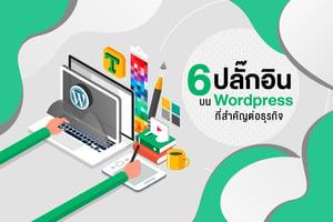 6 ปลั๊กอิน บน Wordpress ที่สำคัญต่อธุรกิจ
