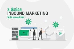 3 ตัวช่วย Inbound Marketing ให้ประสบผลสำเร็จ