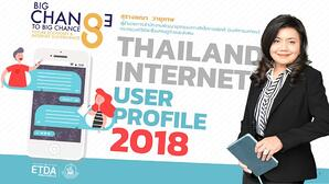 เผย สถิติผู้ใช้งานอินเทอร์เน็ต ปี 2561 ในประเทศไทย THAILAND INTERNET USER PROFILE 2018