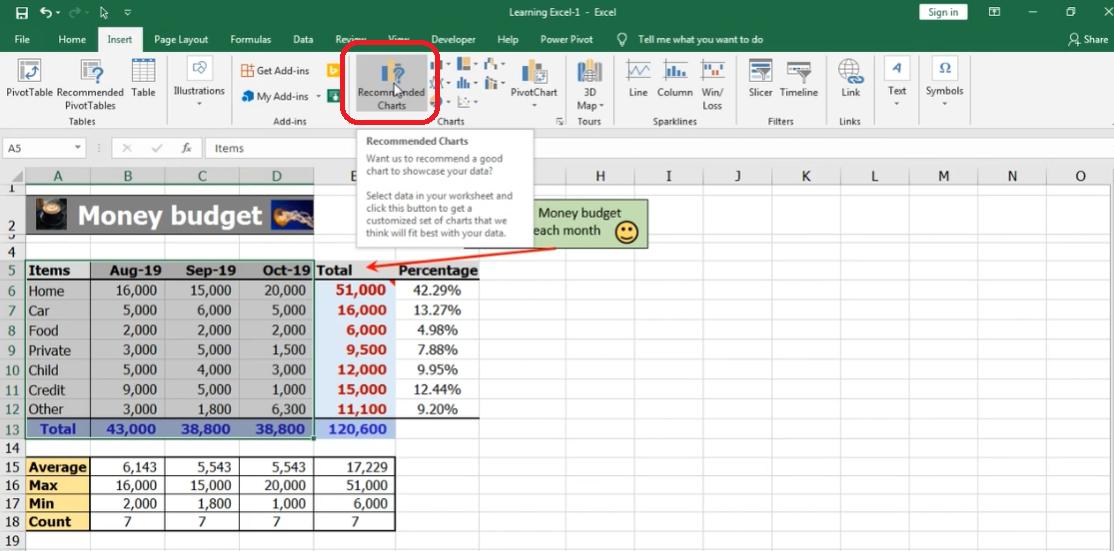 Excel Step 6