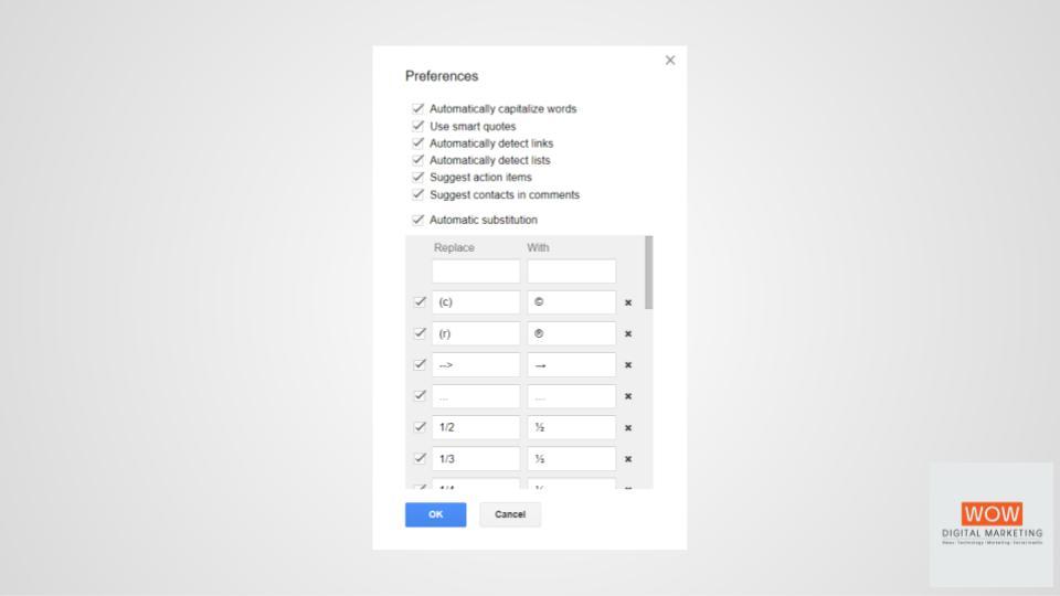เคล็ดลับ Google Docs