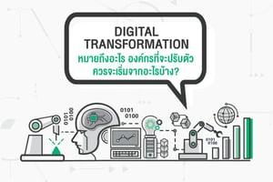 Digital Transformation หมายถึงอะไร องค์กรที่จะปรับตัวควรจะเริ่มจากอะไรบ้าง?